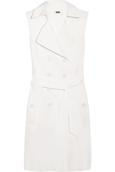 Moschino Cheap And Chic Belted Stretch Cotton Dress