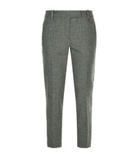Brunello Cucinelli Slim Check Trousers Female Light Grey