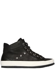 Crime Zip Up Leather High Top Sneakers