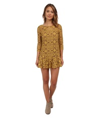 Free People Cross Dye Lace Walking To The Sun Dandelion Women's Dress Yellow