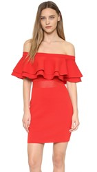Endless Rose Knit Dress Red Orange