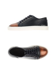 Armani Collezioni Footwear Low Tops And Trainers Men Dark Blue