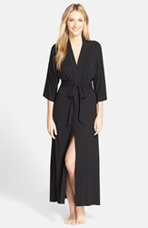 Dkny 'Urban Essentials' Long Robe Black