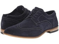 Rockport Birch Lake Wing New Dress Blues Suede Men's Lace Up Wing Tip Shoes Black