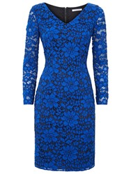 Fenn Wright Manson Aura Lace Dress Blue