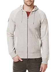 Buffalo David Bitton Wiribs Hooded Sweater Heather Charcoal
