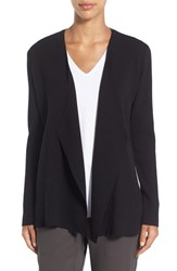 Eileen Fisher Petite Women's Angled Front Shaped Cardigan Black