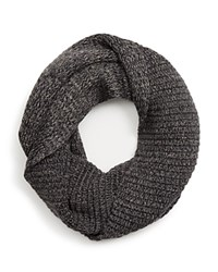 The Men's Store At Bloomingdale's Ribbed Loop Scarf Charcoal Mid Grey Grey Nylon