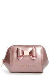 Ted Baker London 'Small Glitter Bow Trapeze' Cosmetics Case