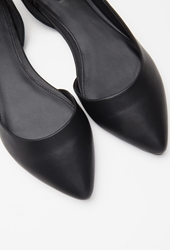 Forever 21 Pointed Cutout Side Flats Black