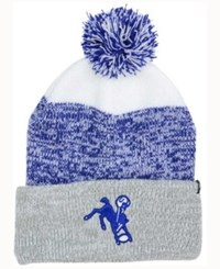 47 Brand '47 Indianapolis Colts Static Cuff Pom Knit Hat White Royalblue