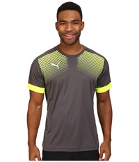 Puma It Evotrg Graphic Tee Touch Asphalt Safety Yellow Men's T Shirt Black