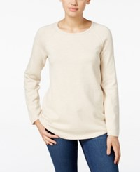 Karen Scott Crew Neck Sweater Only At Macy's Oatmeal Heather
