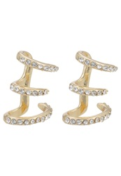 Aldo Stanstead Earrings White Print Gold