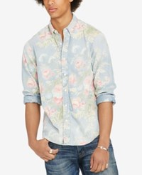 Denim And Supply Ralph Lauren Men's Floral Print Long Sleeve Shirt