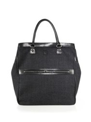 Dsquared Wool Blend Large Tote Grey