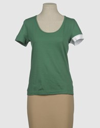 Gentryportofino Topwear Short Sleeve T Shirts Women Green