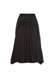 Rochas Gathered And Ruffled Midi Skirt
