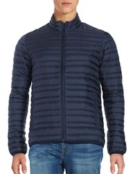 Brooks Brothers Down Puffer Coat Navy