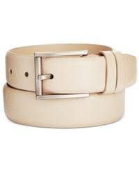 Kenneth Cole Reaction Men's Feather Edge Belt Bone