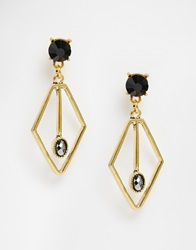 Paper Dolls Paperdolls Stone Geo Drop Earrings Gold