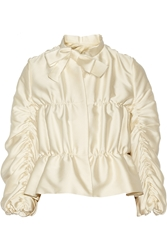 Lanvin Ruched Satin Jacket