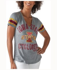 G3 Sports Women's Iowa State Cyclones Any Sunday Rhinestone T Shirt Heather