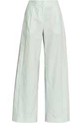 Maiyet Pleated Cotton Wide Leg Pants