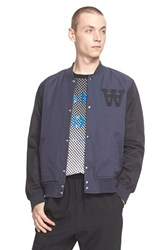 Men's Wood Wood 'Billie' Varsity Jacket Blue Nights