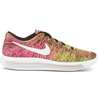 Nike Running Lunarepic Low Flyknit Mesh Sneakers Bright Pink