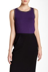Anne Klein Embellished Tank Purple