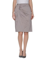 Xandres Knee Length Skirts Dove Grey