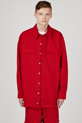Marques Almeida Denim Oversized Shirt Red