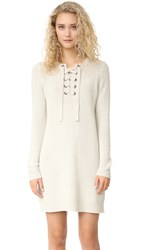Madewell Sweater Lace Up Dress Heather Fog