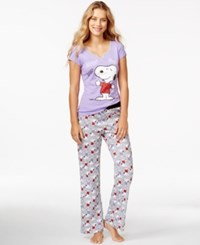 Briefly Stated Snoopy Top And Pajama Pants Set