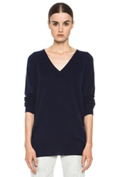 Equipment Asher Cashmere V Neck In Blue
