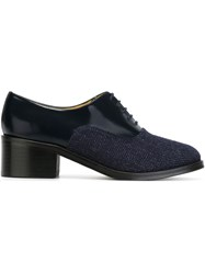 Each X Other Herringbone Panel Derby Shoes Blue
