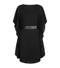 Armani Collezioni Belted Batwing Dress Female Black
