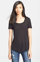 Atm Anthony Thomas Melillo Women's 'Sweetheart' Modal Tee Black