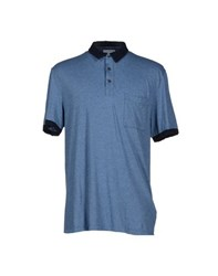 James Perse Standard Topwear Polo Shirts Men Slate Blue