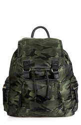 Topshop Nylon Backpack Green Camo