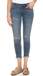 Free People Distressed Jeans Tupelo Blue