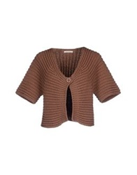 Ekle' Cardigans Light Brown