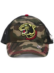 Philipp Plein 'Army Guy' Baseball Cap Green