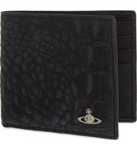 Vivienne Westwood Amazon Crocodile Embossed Leather Wallet Black