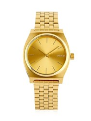 Nixon Time Teller Gold Finish And Dial Watch