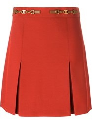 Tory Burch Front Slit A Line Skirt Red