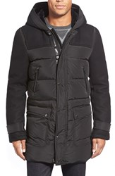Men's Mackage 725 Fill Power Down Wool Sleeve Jacket With Genuine Shearling