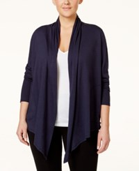 Lucky Brand Plus Size Asymmetrical Hem Wrap Navy