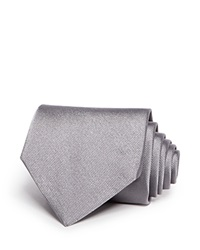 Brooks Brothers Solid Classic Tie Silver